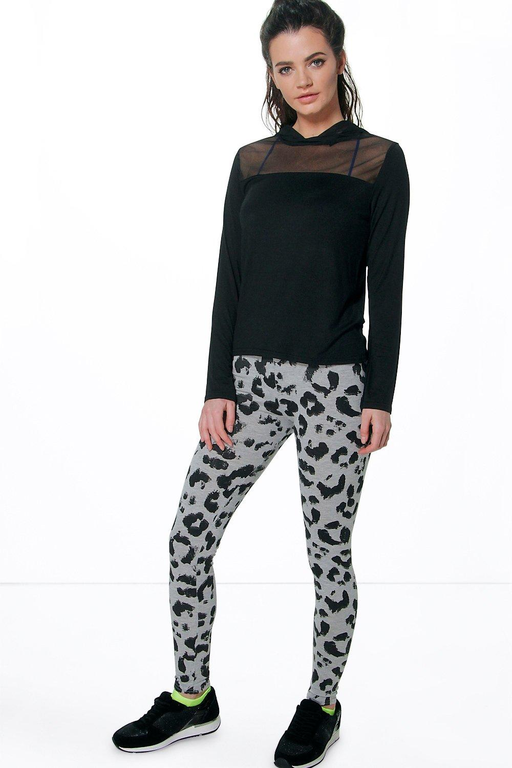 Megan Leopard Print Sports Legging