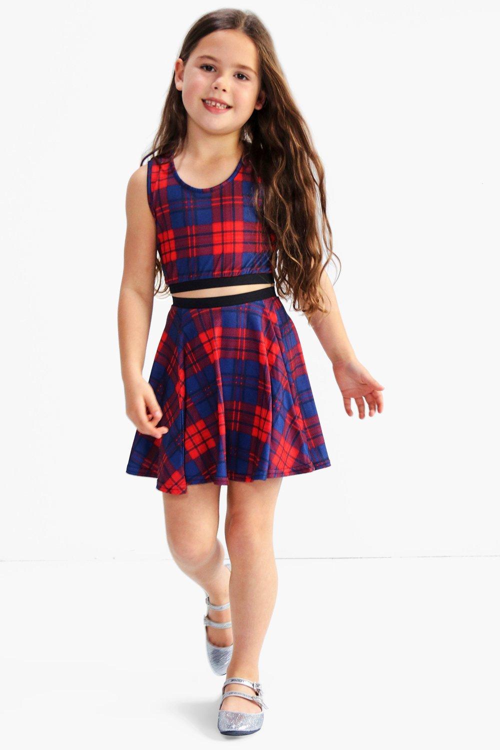 Girls Check Skater Skirt