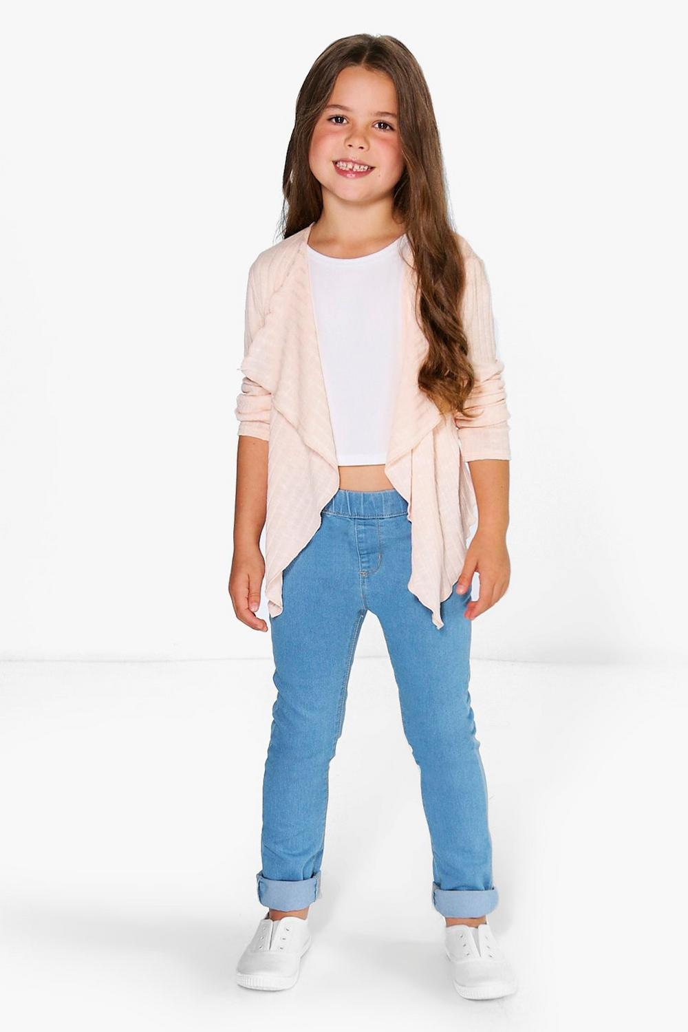 Girls Rib Waterfall Cardigan