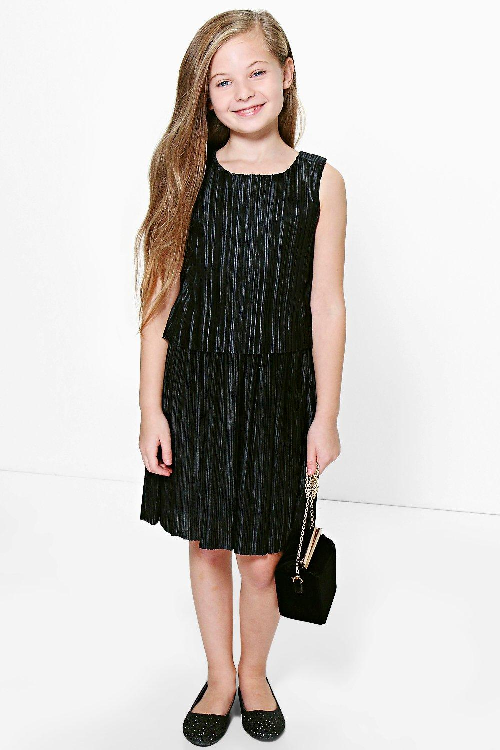 Girls All Over Pleated Skater Dress