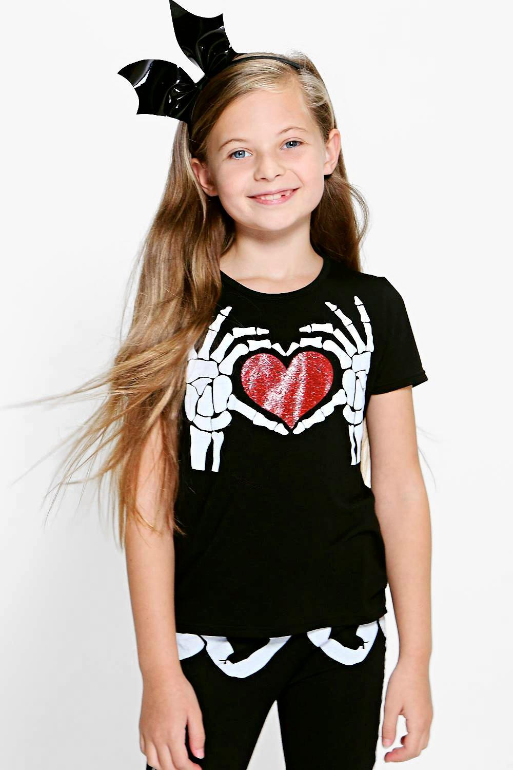 Girls Heart Print Tee