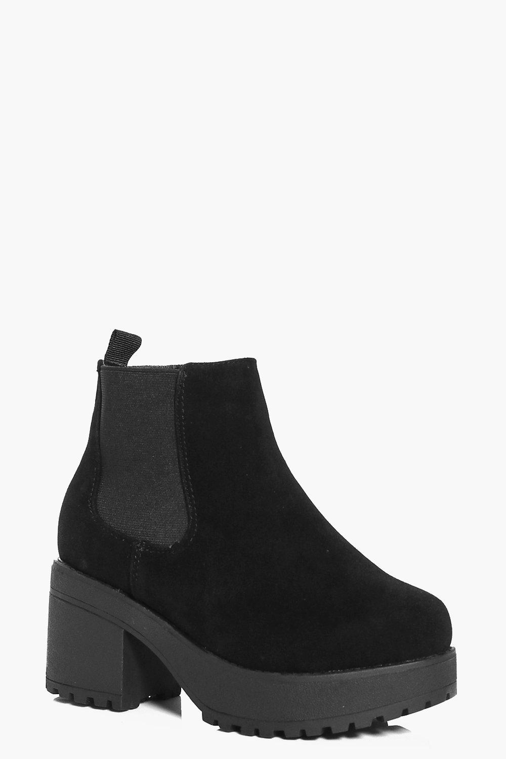 Girls Chunky Cleated Chelsea Boots