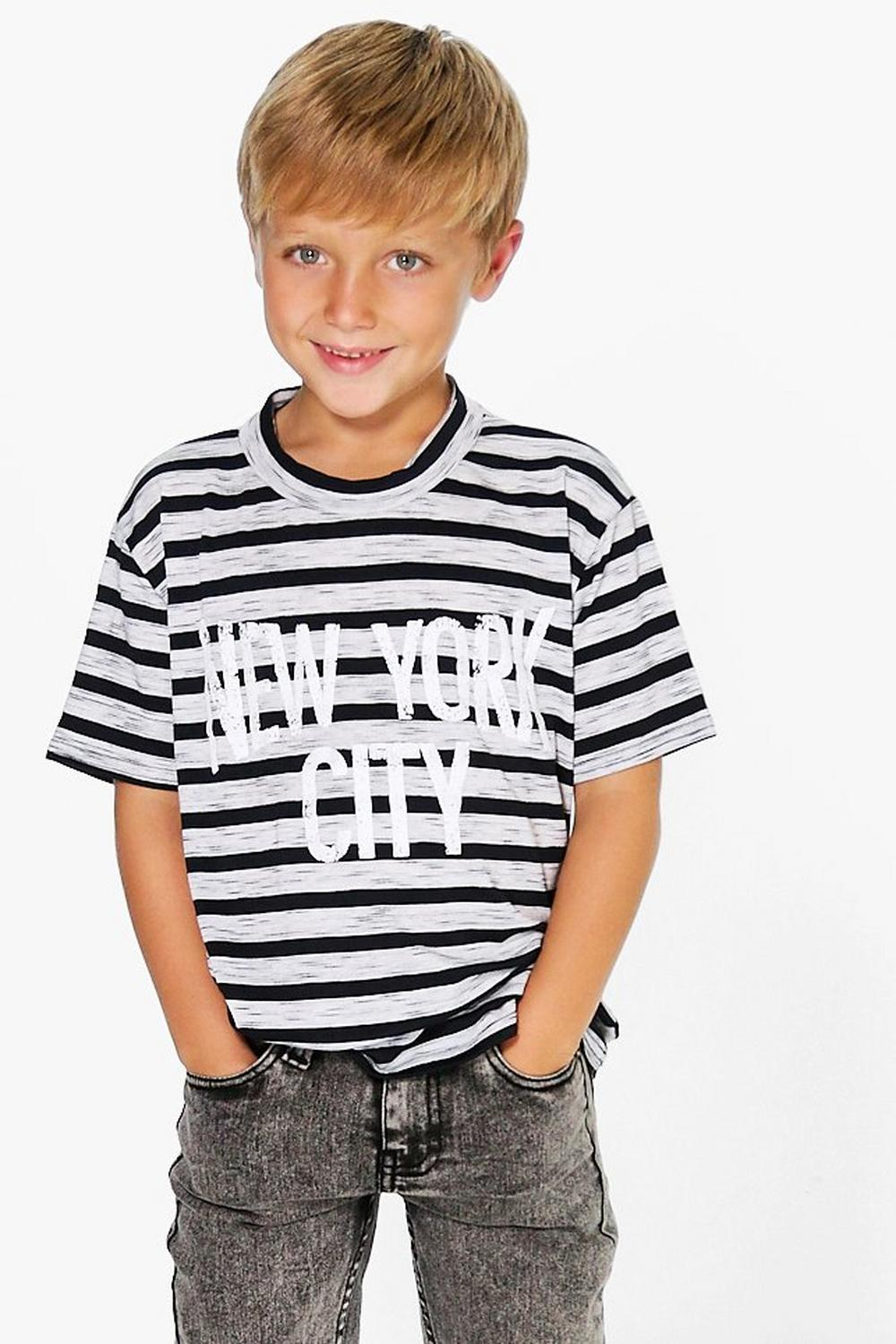 Boys Striped New York City T Shirt