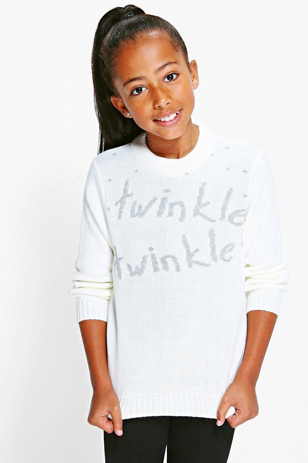 Girls Twinkle Twinkle Christmas Jumpers