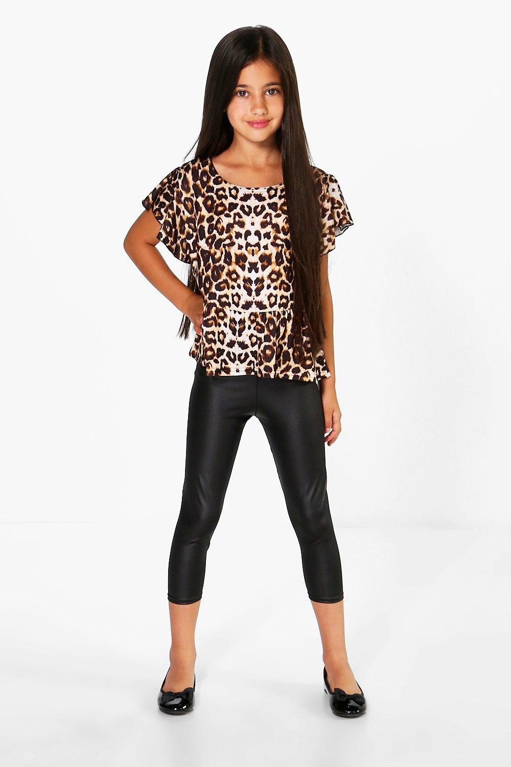 Girls High Shine Leggings