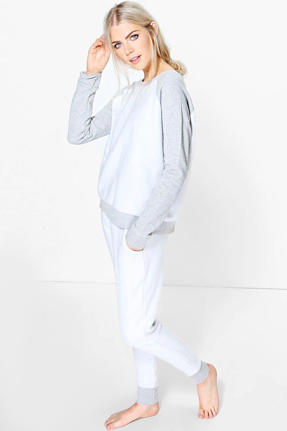 Alice Reverse Fleece Raglan Lounge Tracksuit