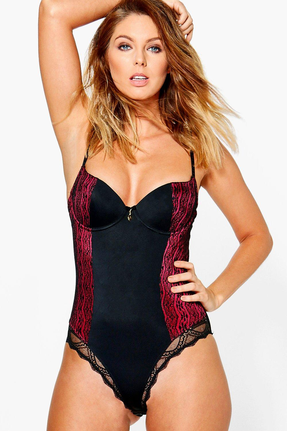 Angel Contrast Detail Underwired Lingerie Body