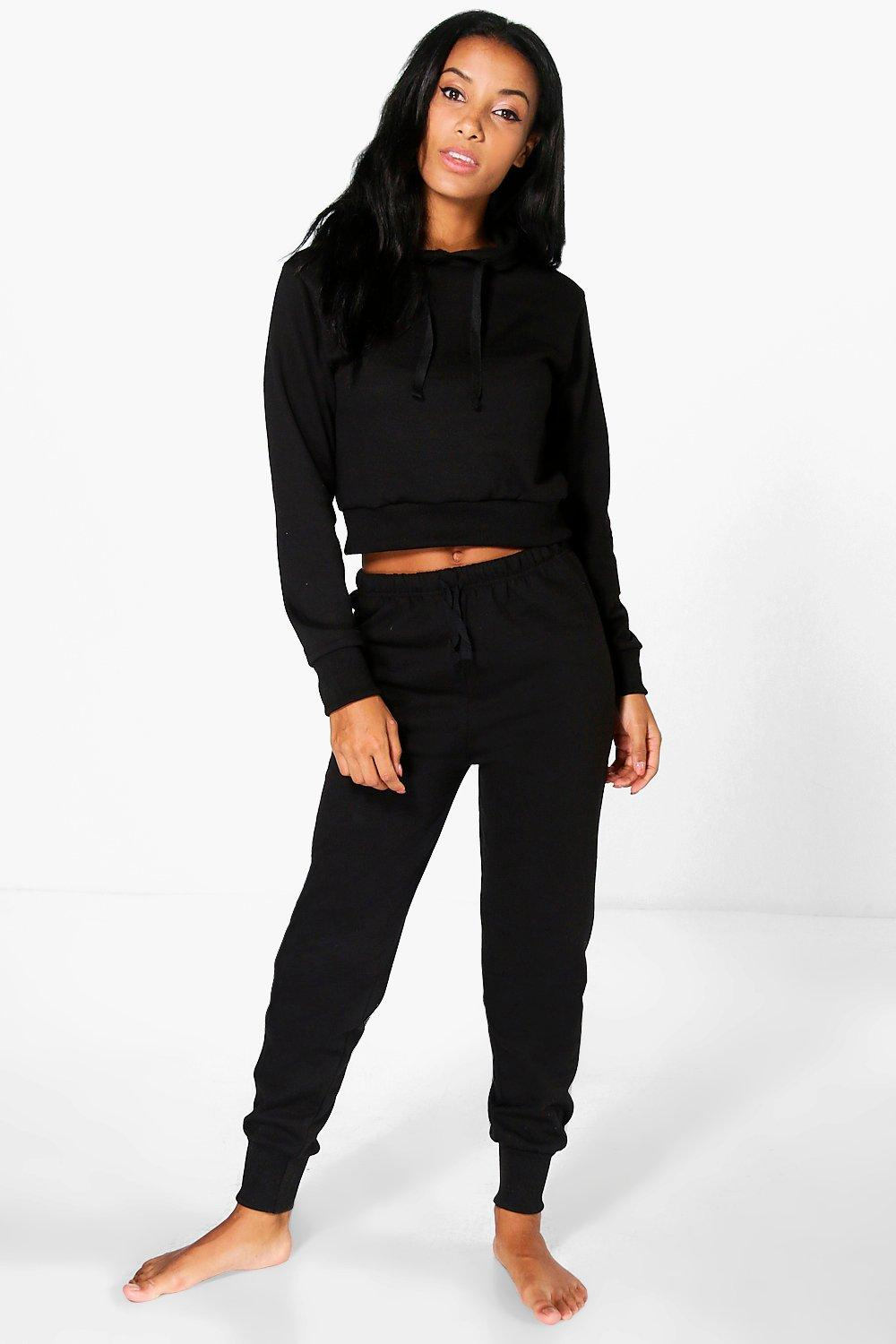 Erin Fleece Hooded Sweater And Jogger Lounge Set
