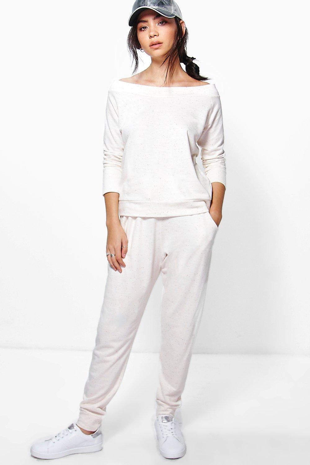 Cara Bardot Nep Yarn Top And Jogger Set