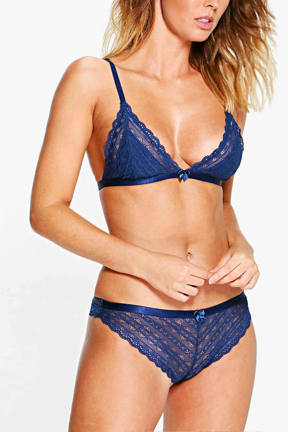 Abbie Linear Lace Brazillian Brief