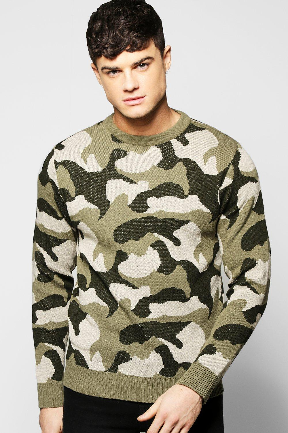 Camo Crew Neck Jumper