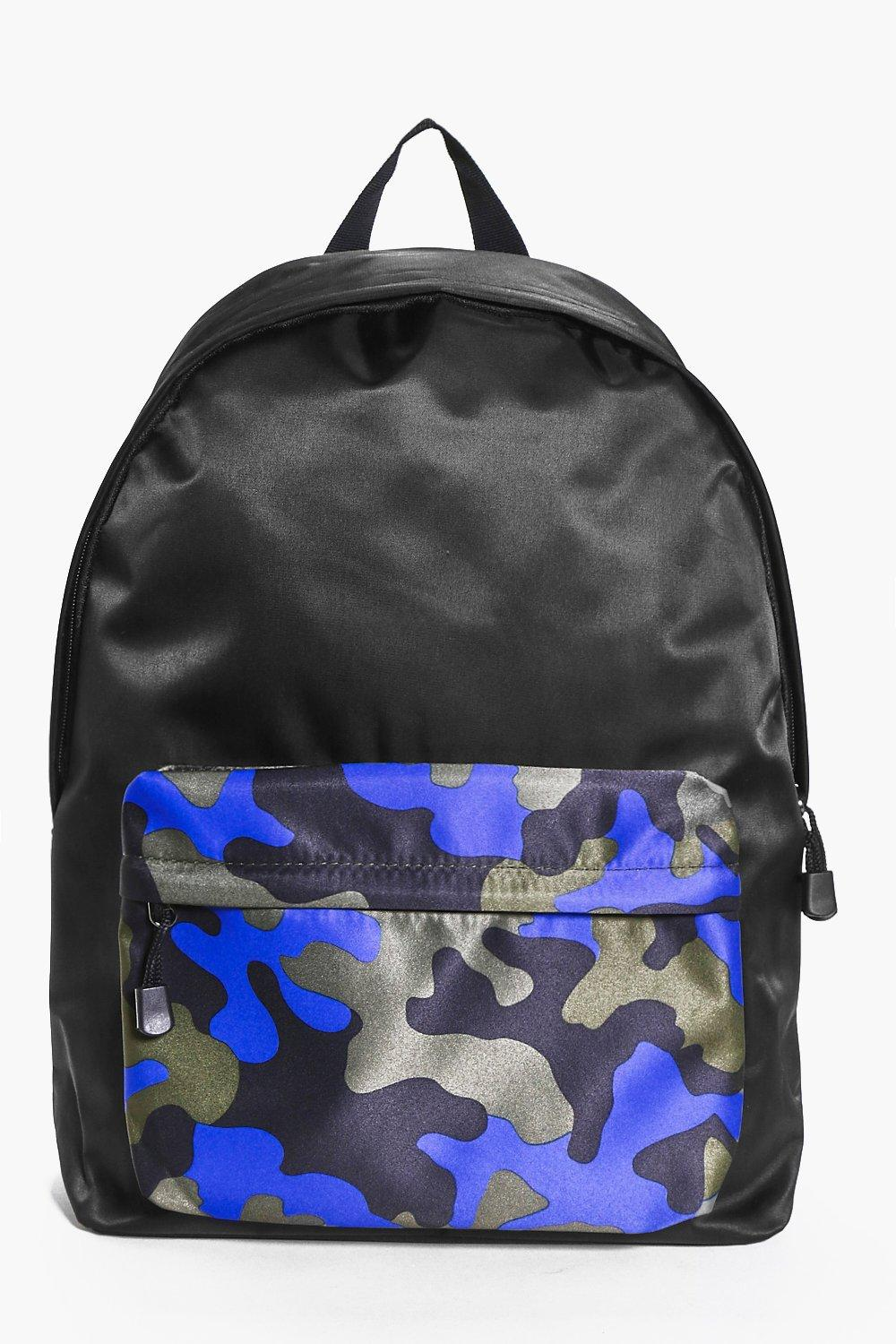 Camo Front Colour Blocked Back Pack