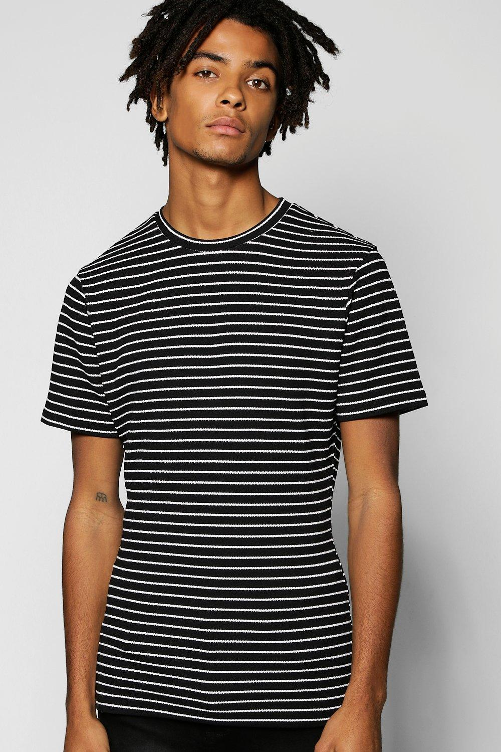 Muscle Fit Stripe T Shirt
