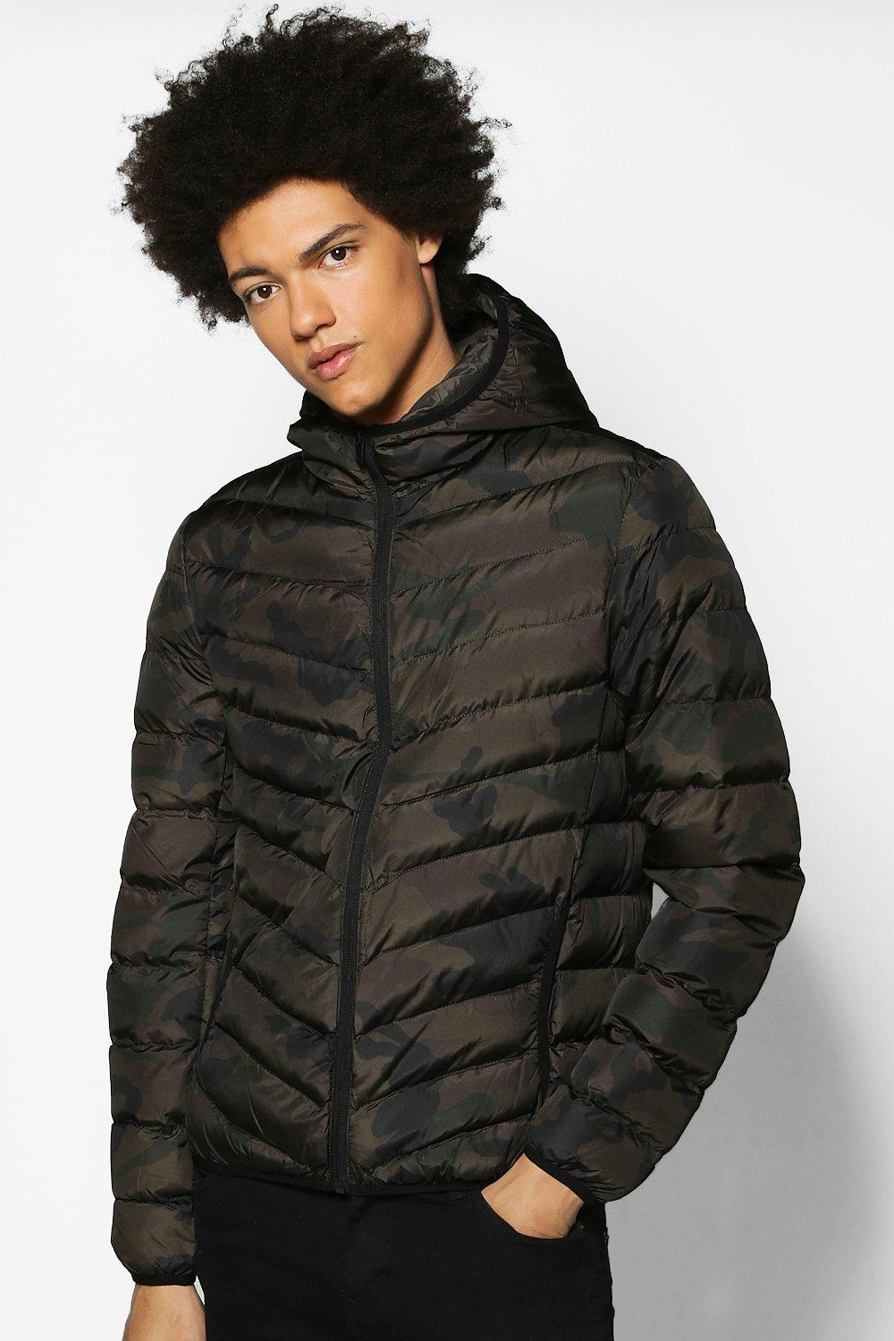 Camo Padded Parka Jacket