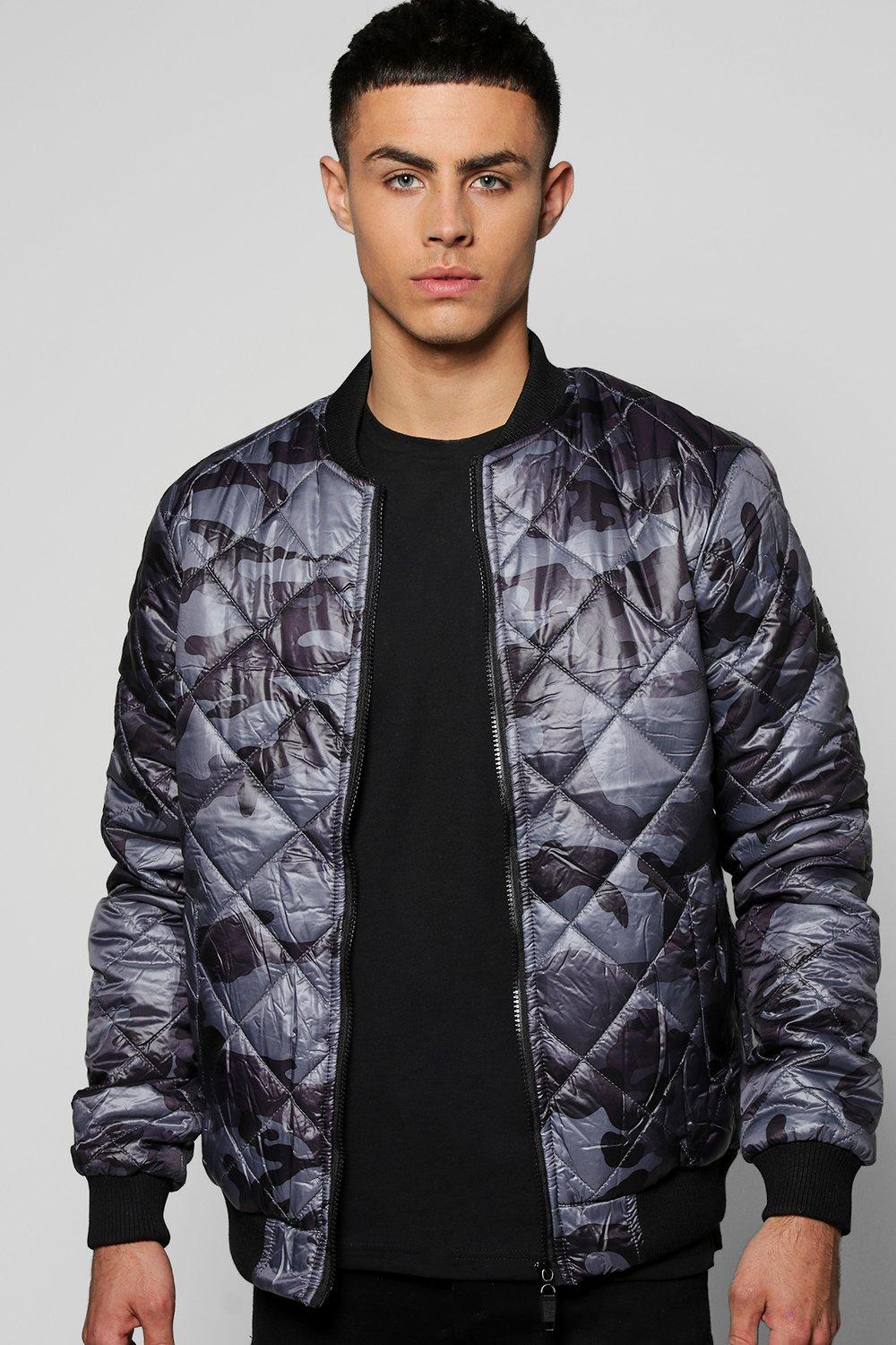 Camo Quilted Padded Bomber