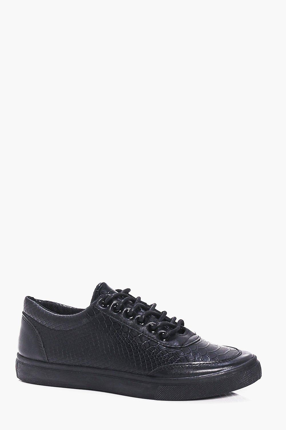 Croc PU Smart Lace Up Shoes