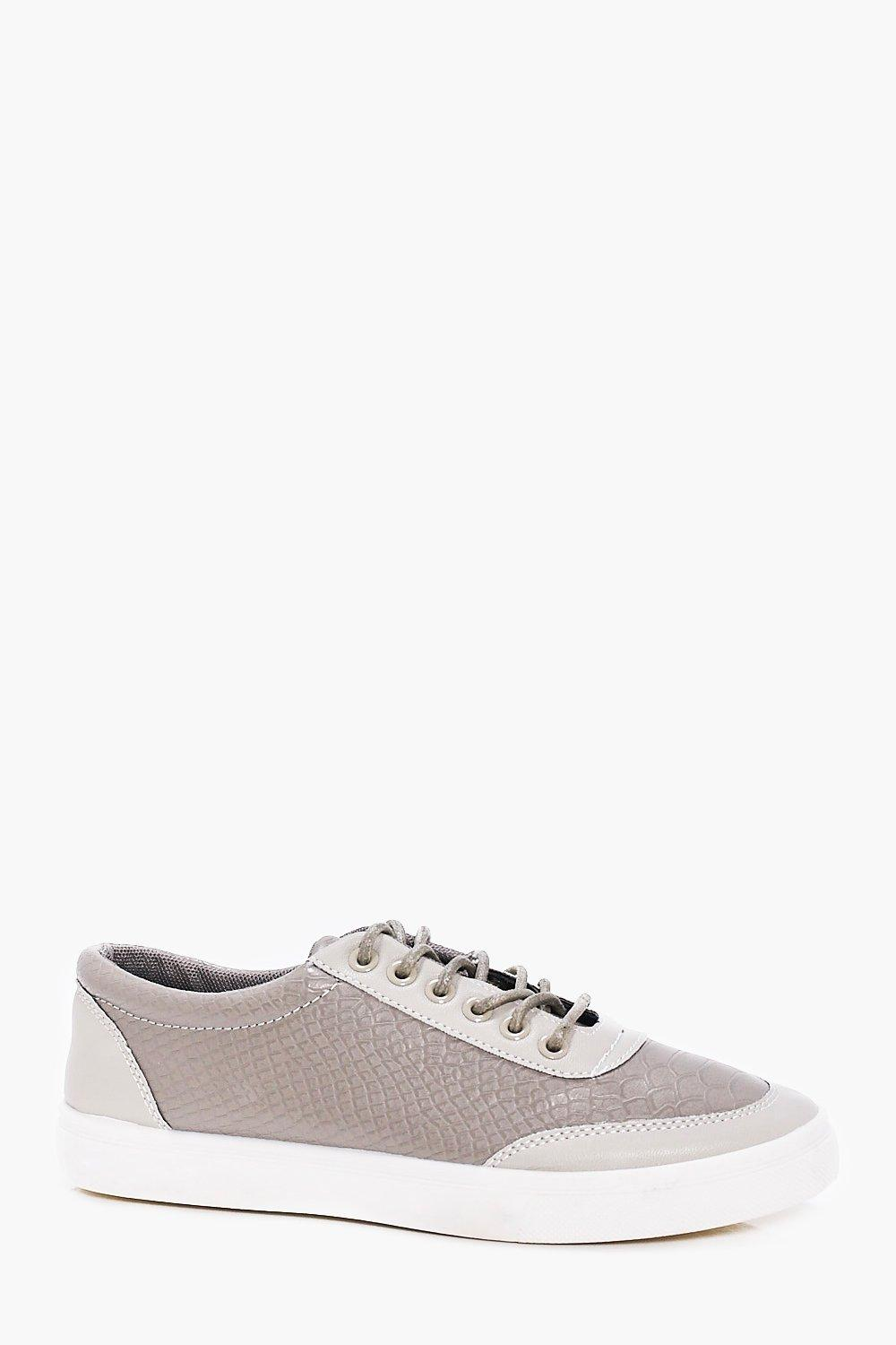 Croc PU Smart Lace Up Shoe