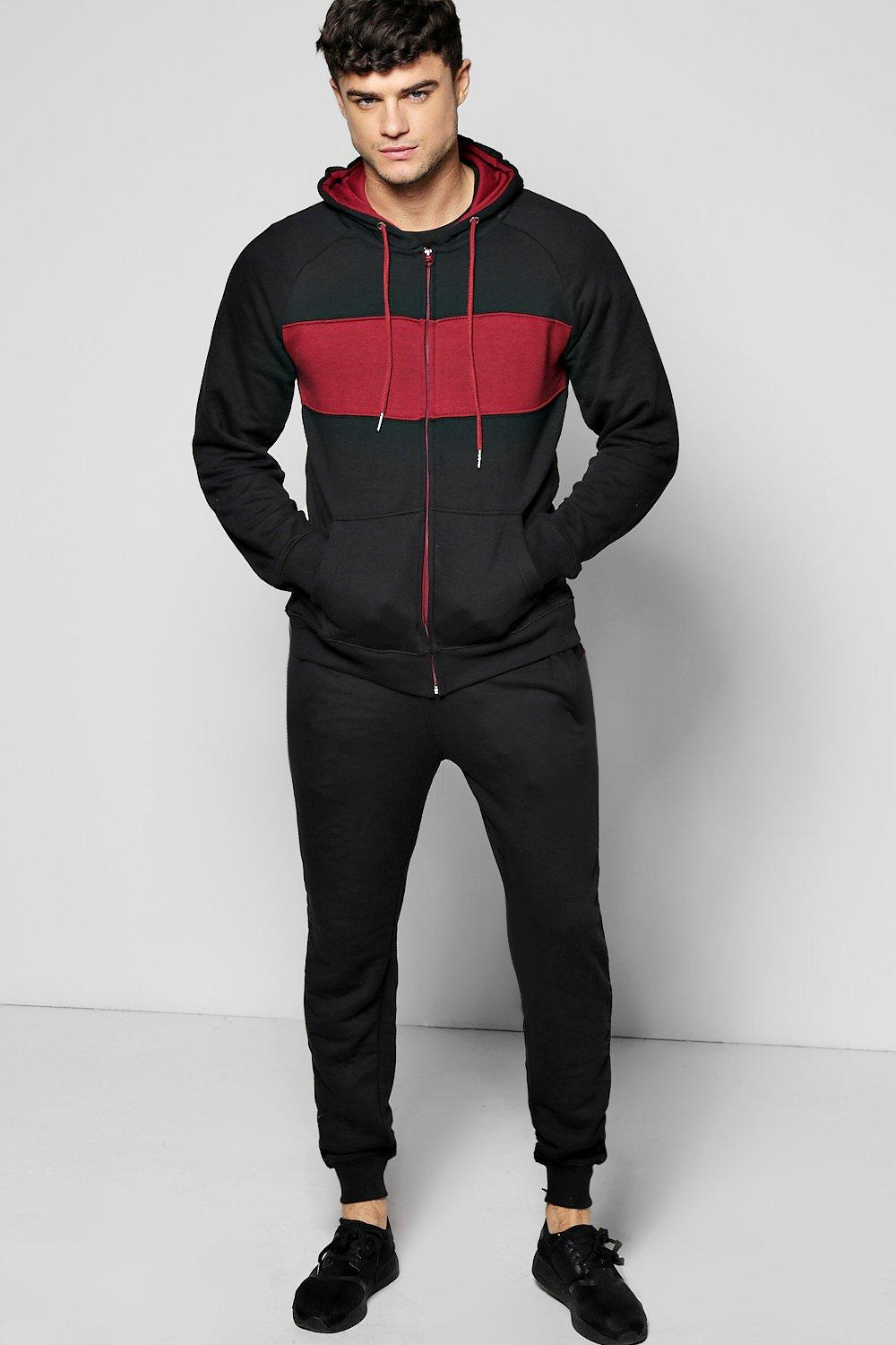 Skinny Fit Panel Tracksuit