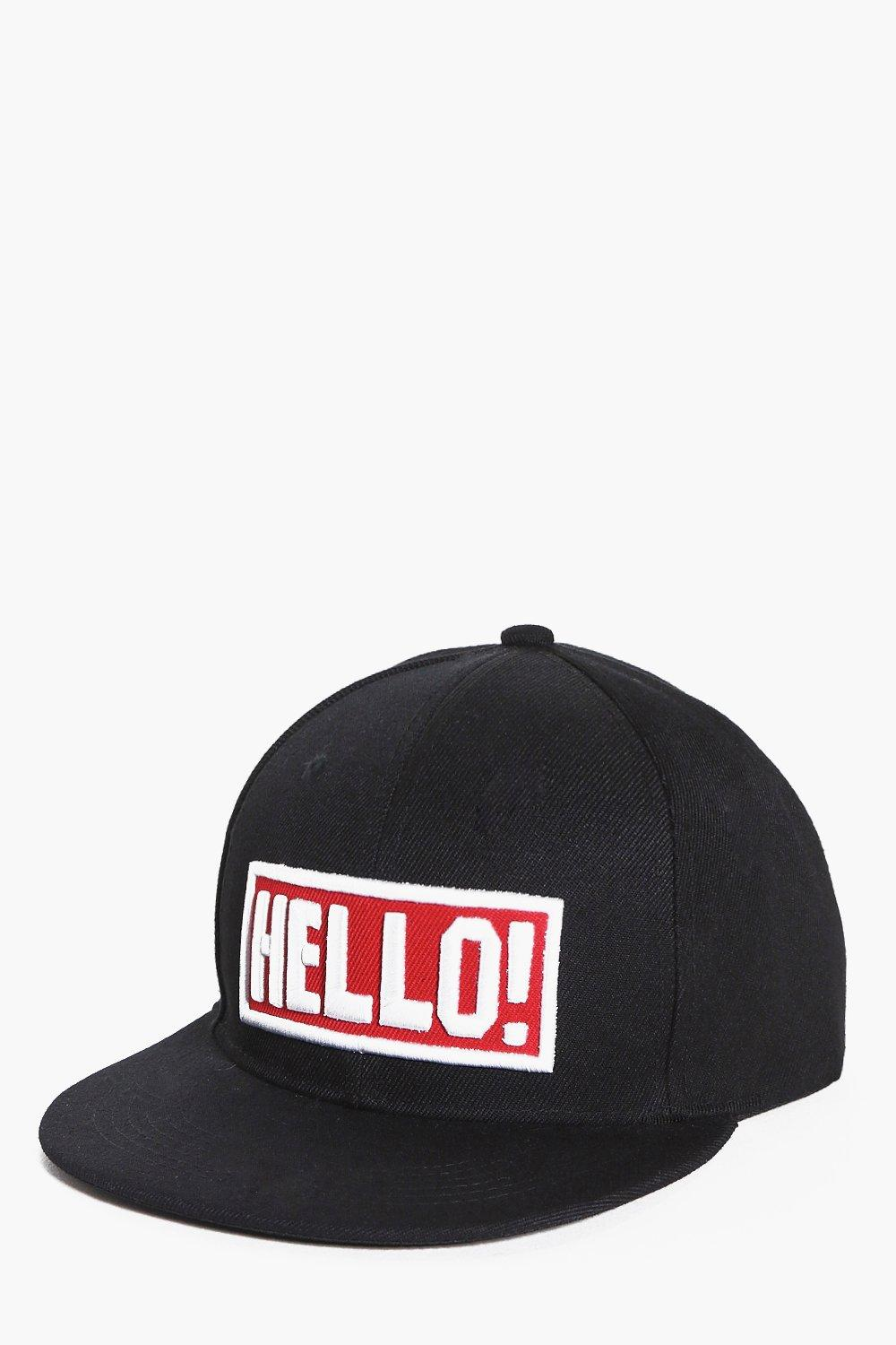Hello! Embroidered Snapback
