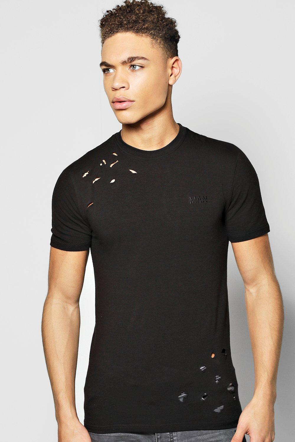 Distressed Extreme Muscle Fit MAN T-Shirt
