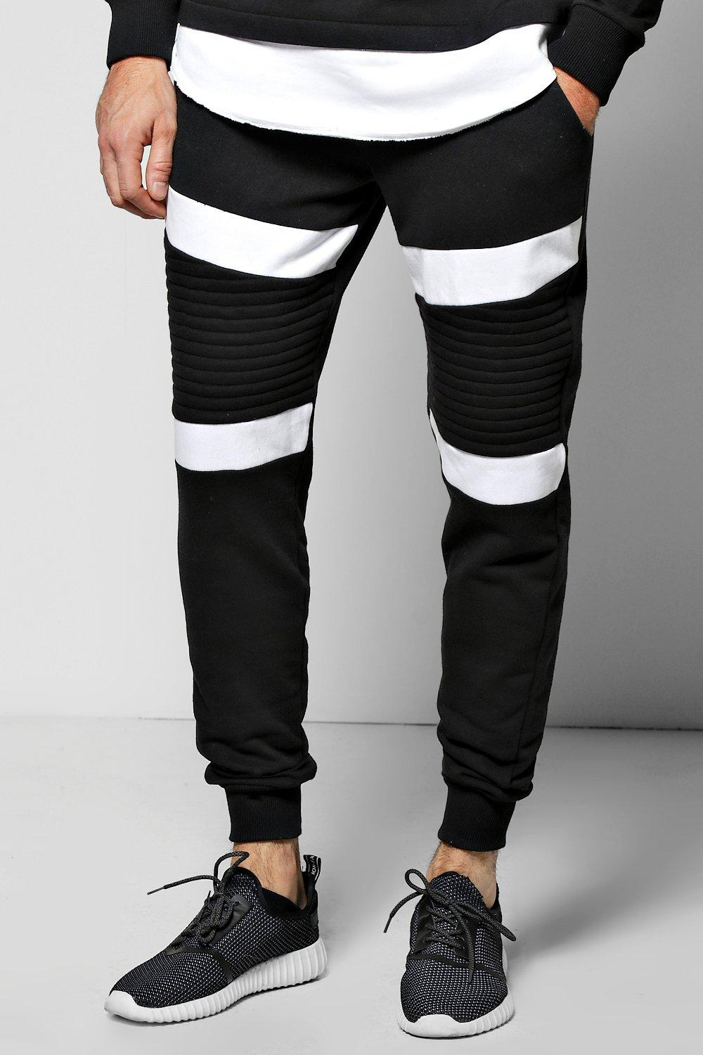 Skinny Fit Colour Block Biker Joggers