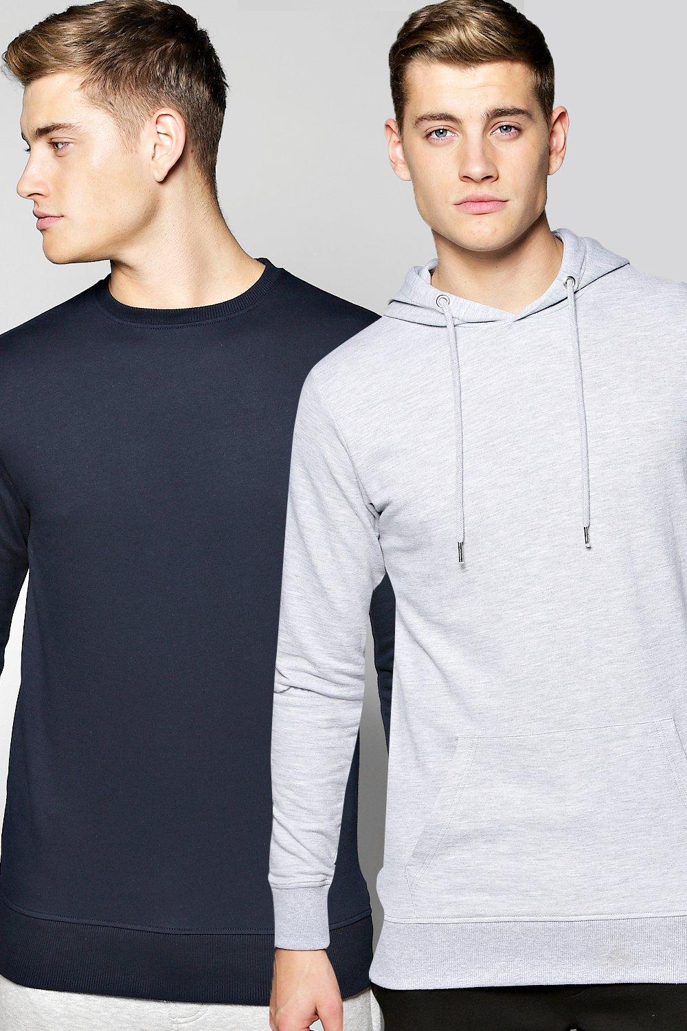 2 Pack Lounge Hoodie And Crew Sweat