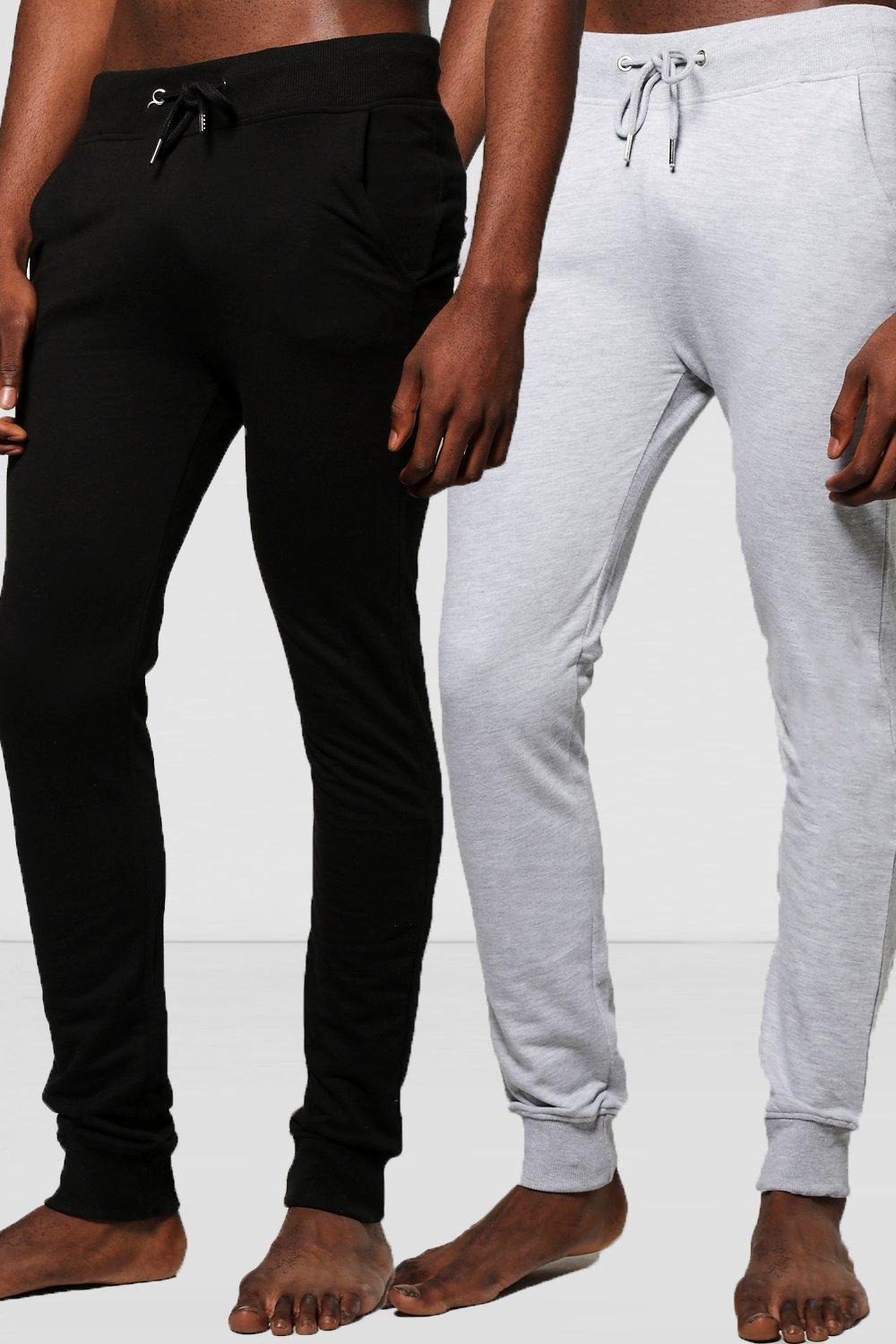 2 Pack Lounge Joggers In Black