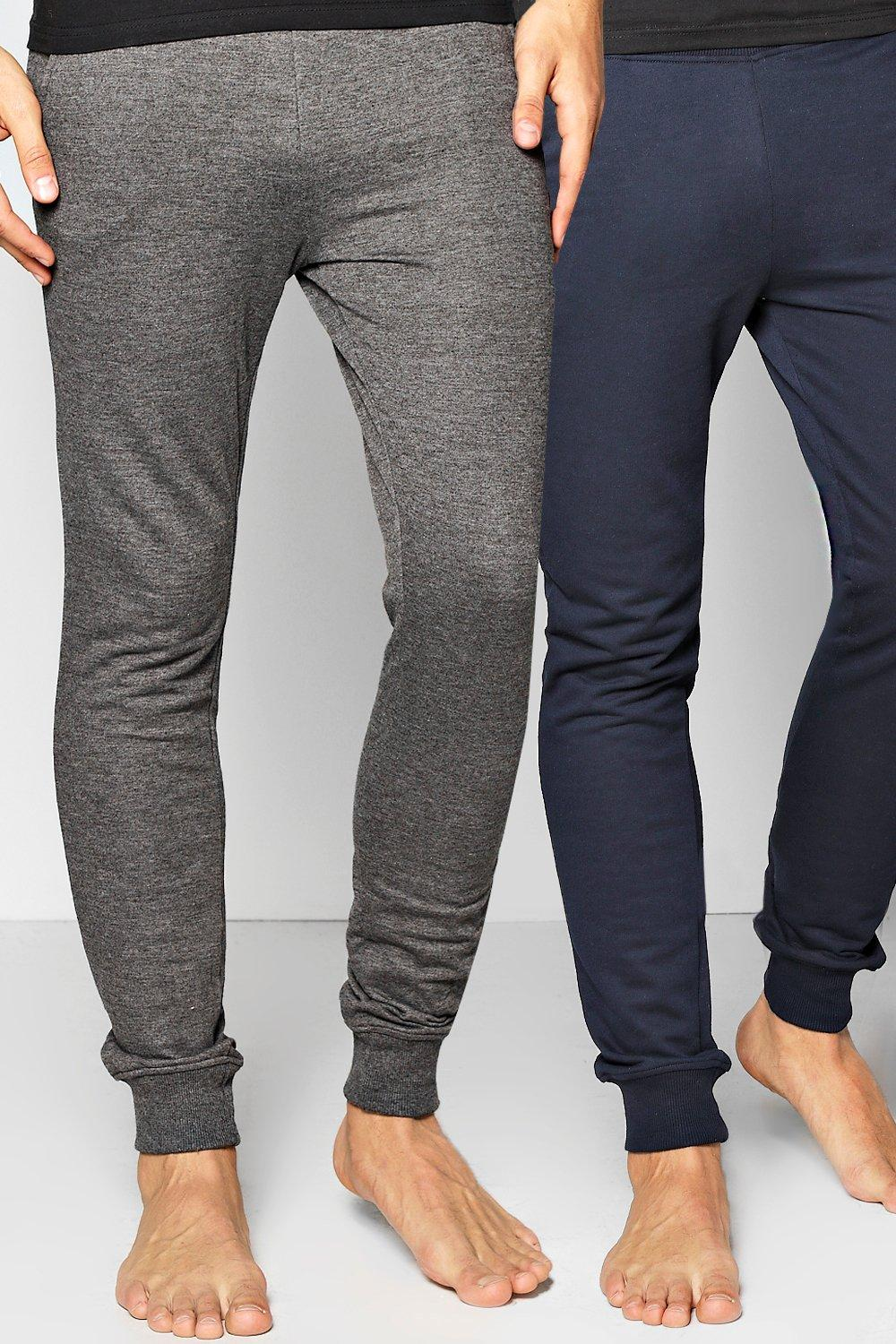 2 Pack Lounge Joggers In Charcoal