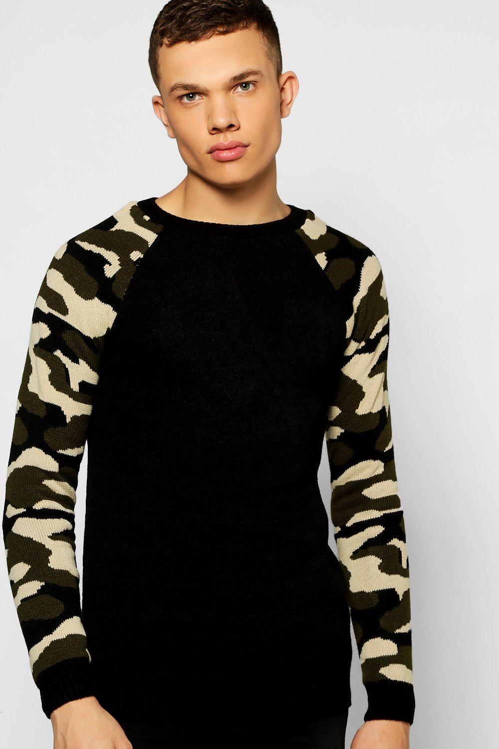 Camo Sleeves Jumper