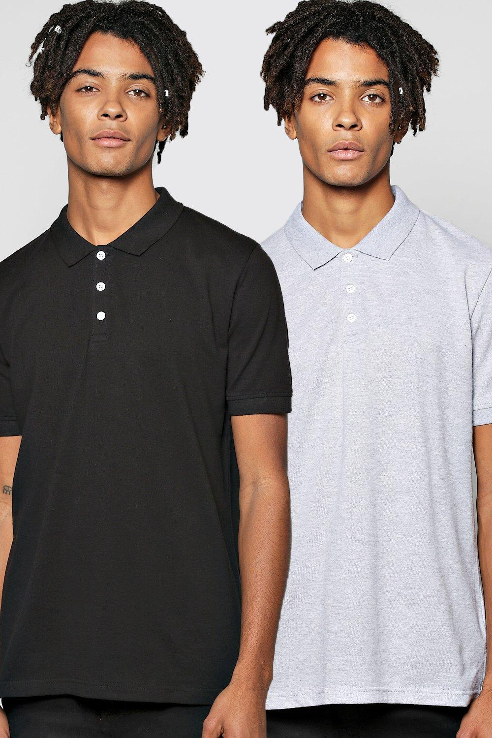 Short Sleeve Pique Polo 2 Pack