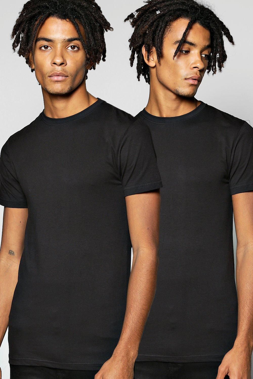 2 Pack Muscle Fit T Shirt