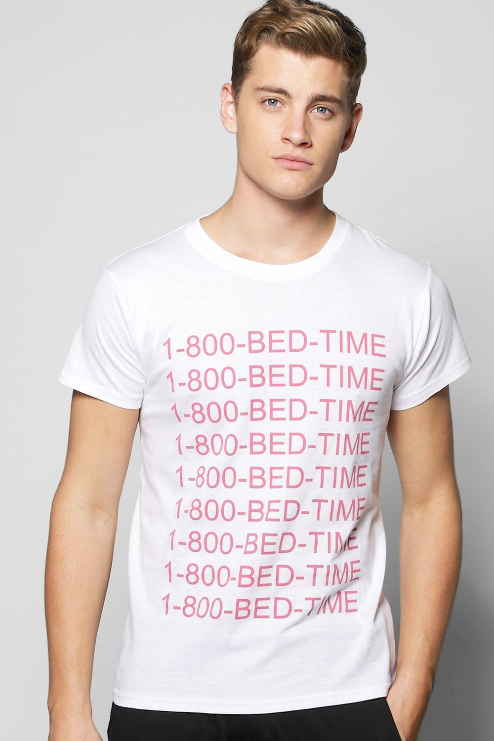 Bed Time Slogan Lounge Tee
