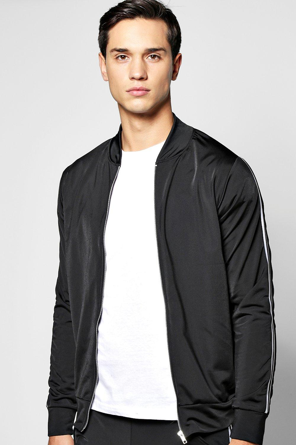 Poly Tricot Panel Bomber
