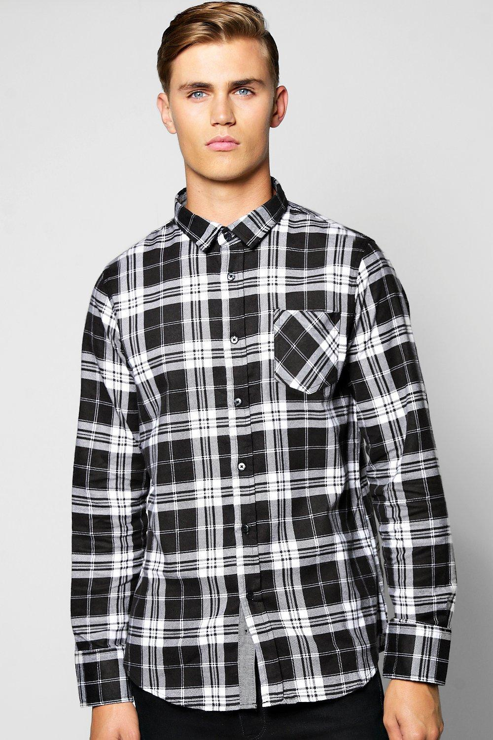 Brush Check Long Sleeve Shirt