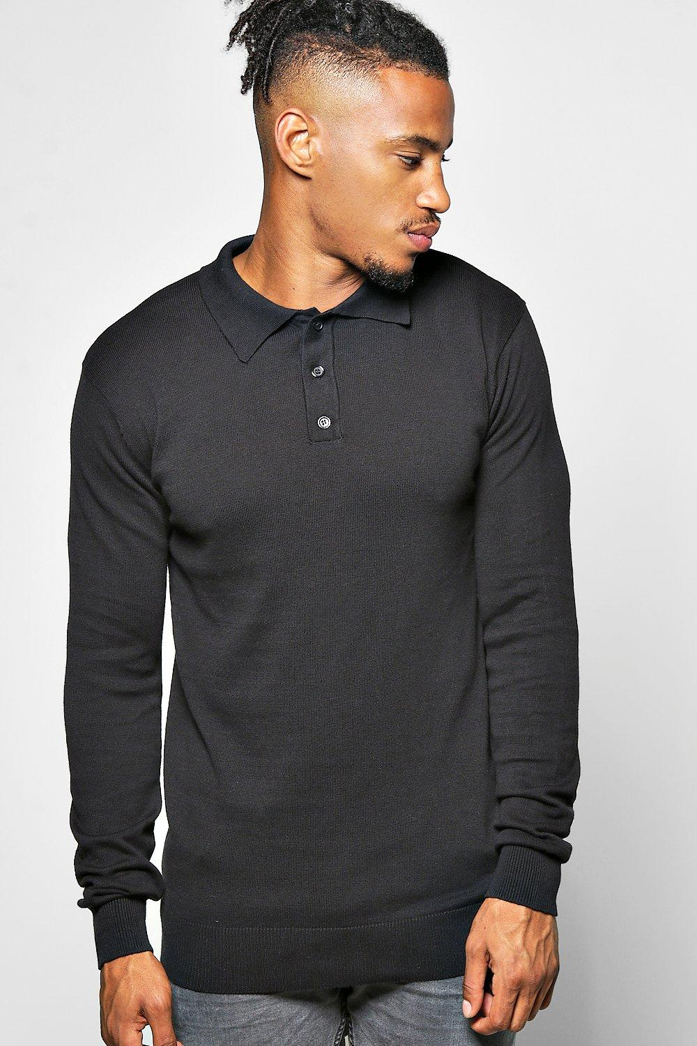 Knitted Polo With Long Sleeve