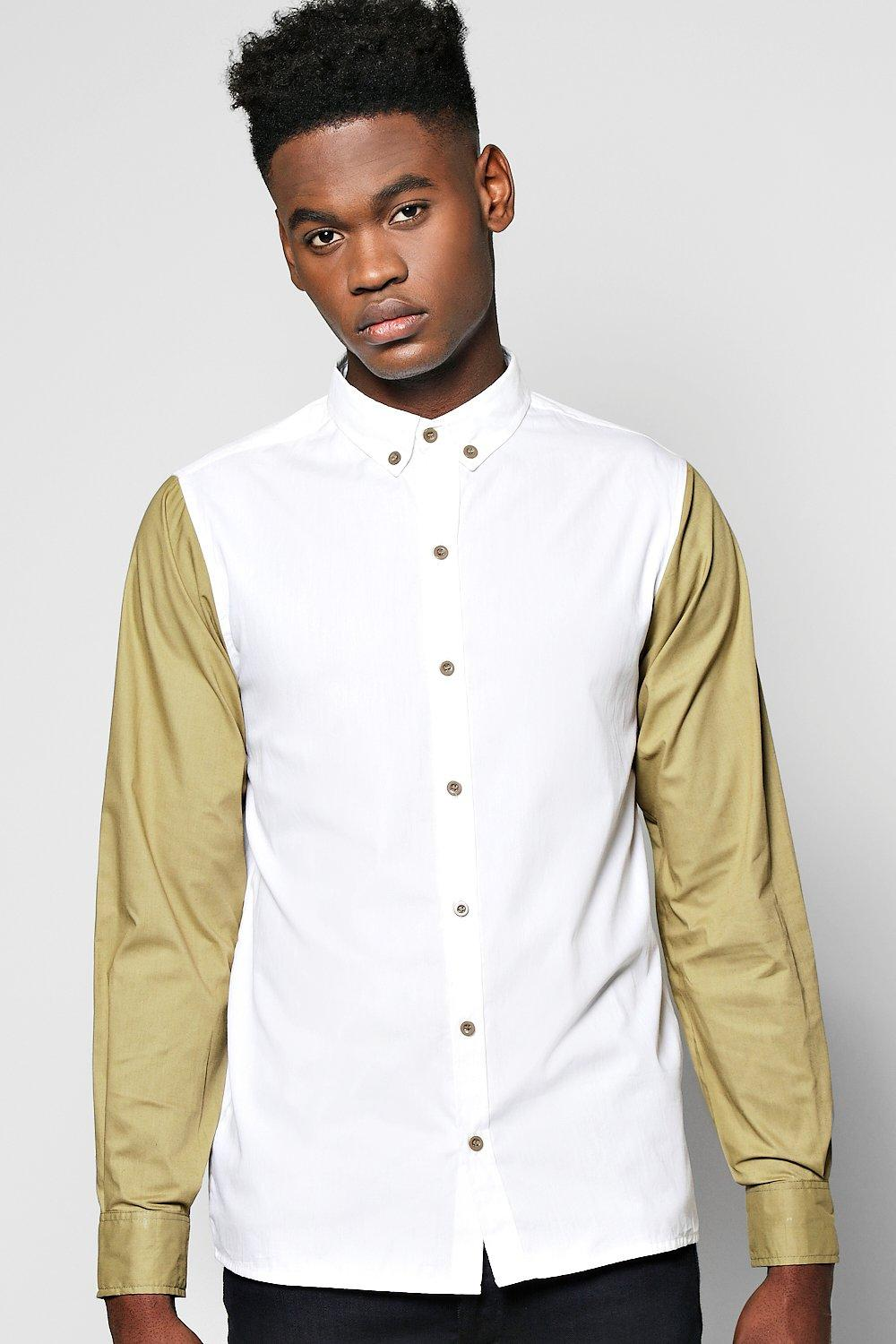 Contrast Long Sleeve Shirt