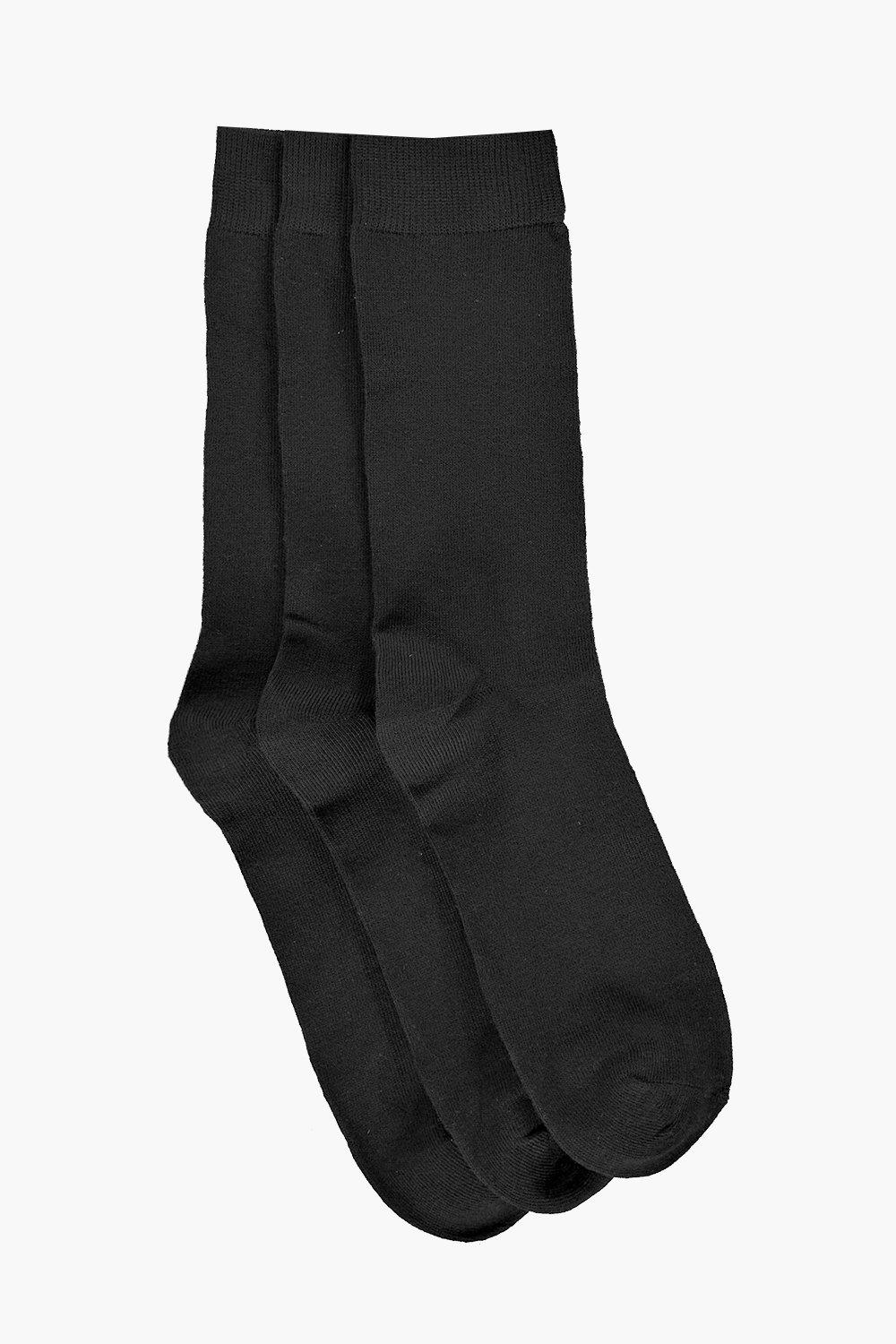 Mens Black Socks (3 Pack)