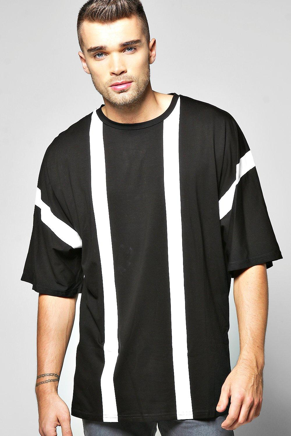 Oversized Mono Striped T Shirt