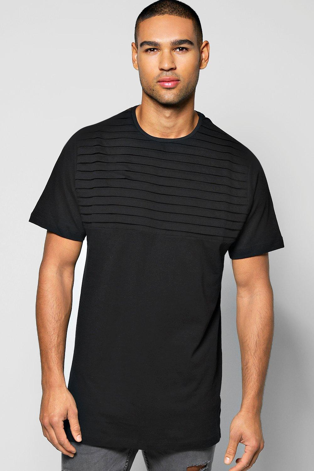 Longline Biker Pleated T Shirt