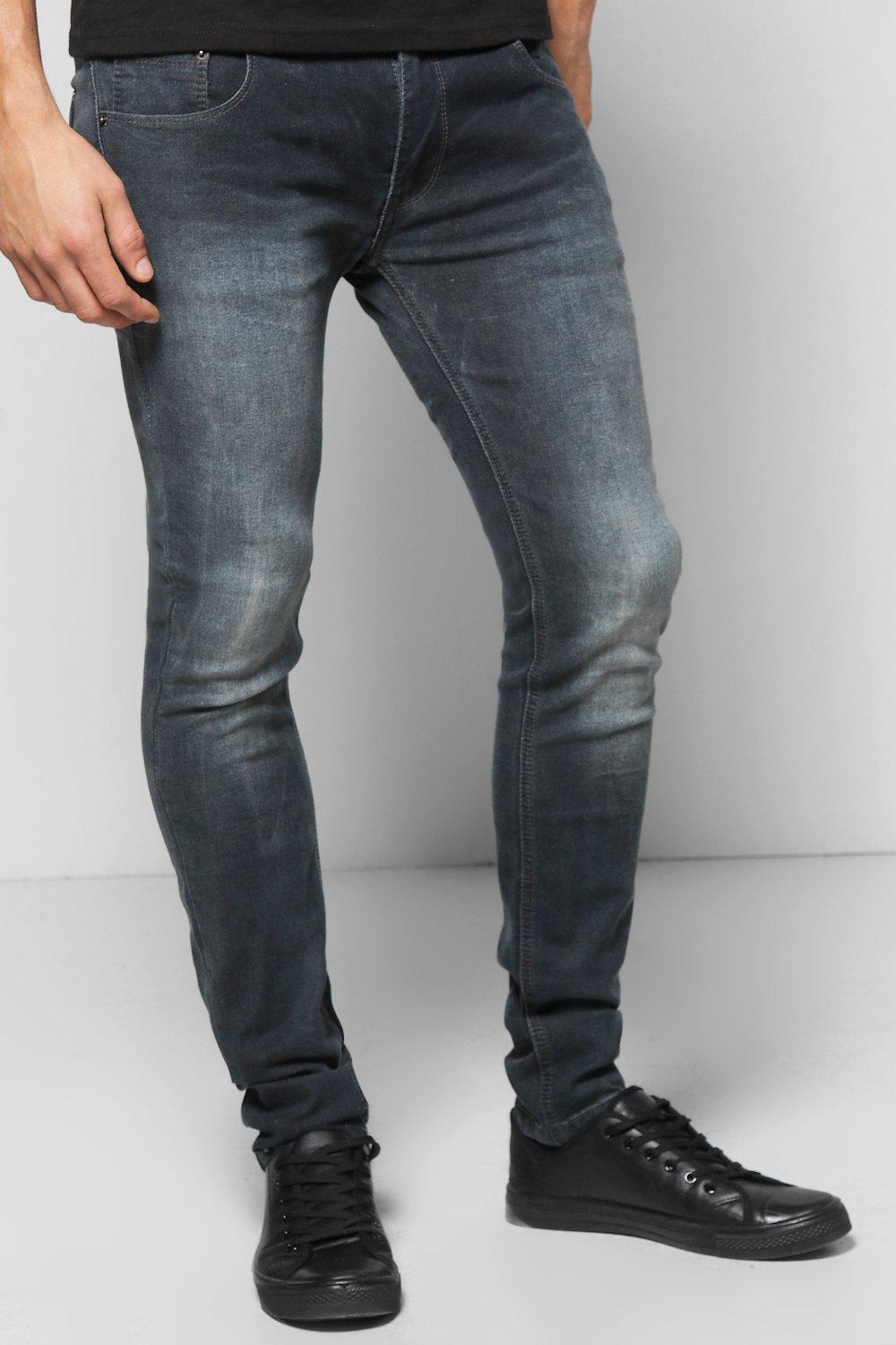 Skinny Stretch Washed Grey Jeans
