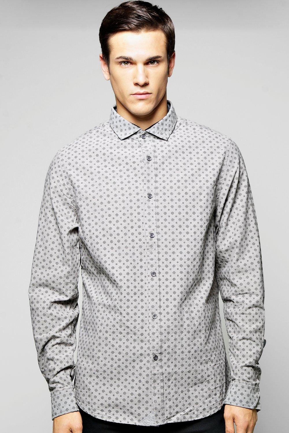 All Over Print Chambray Shirt