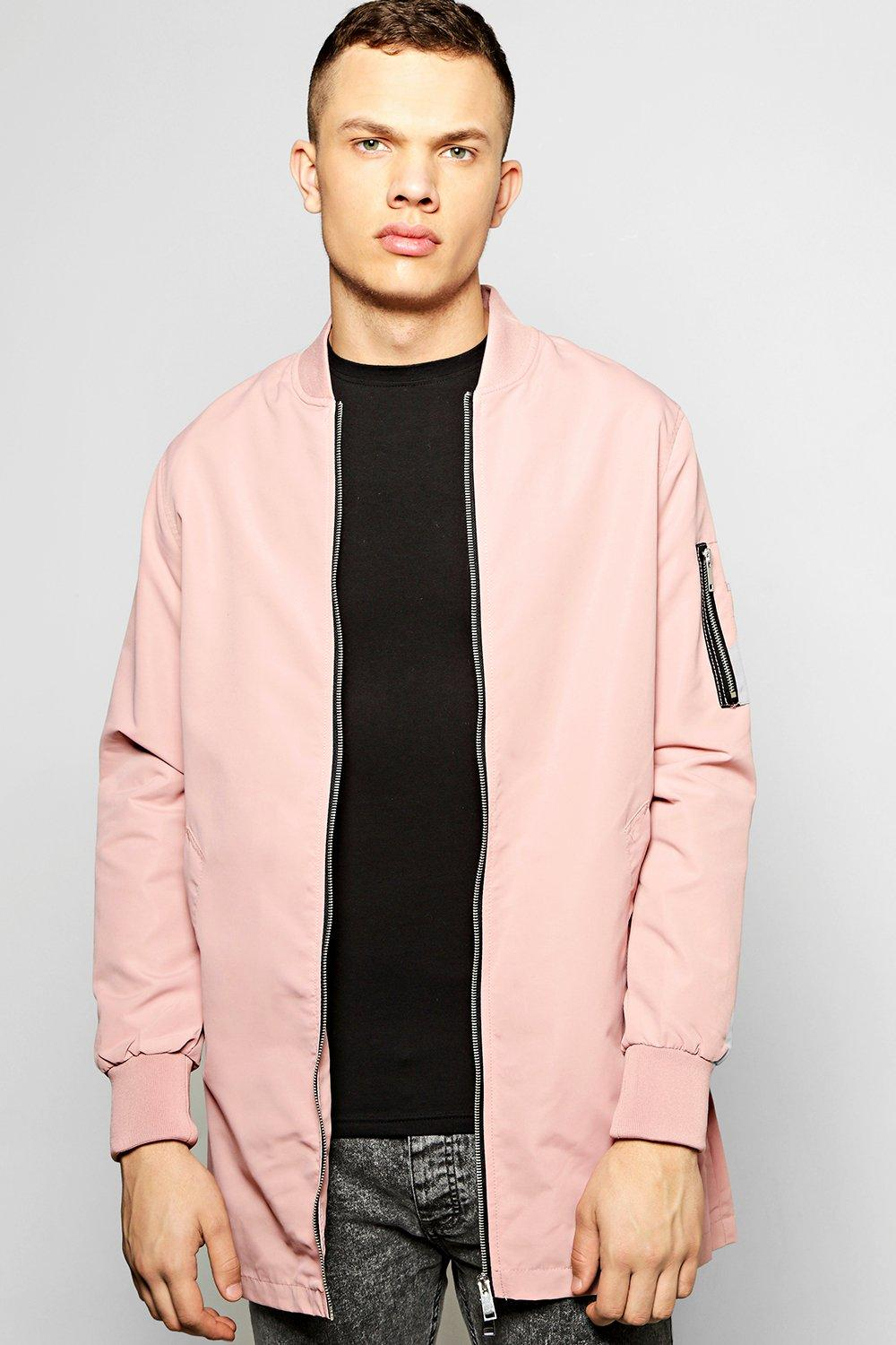Longline Single Colour Bomber Jacket