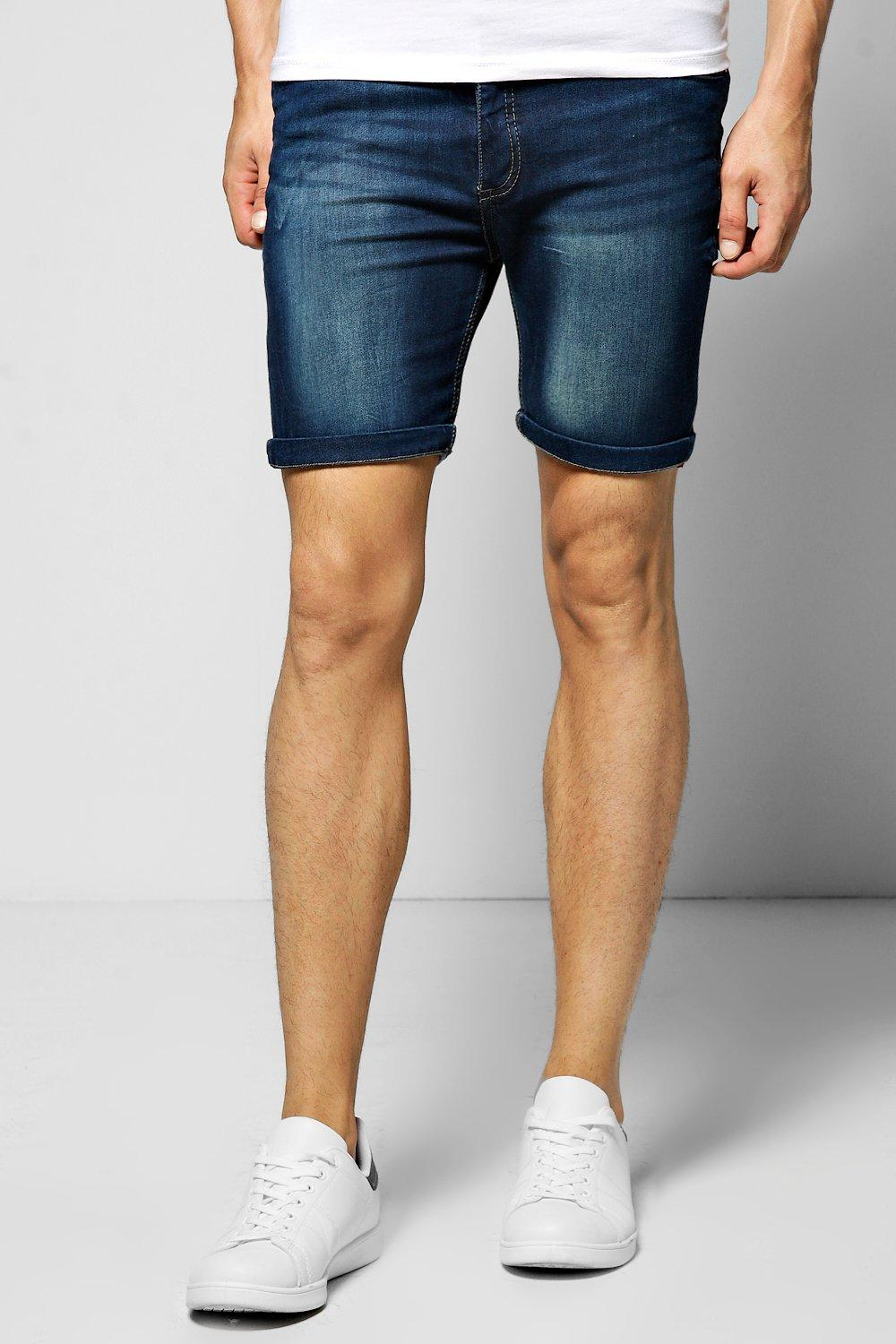 Enzyme Washed Denim Shorts