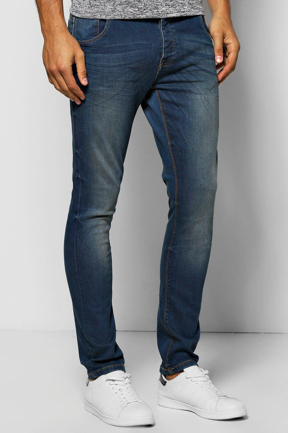 Skinny Stretch Mid Wash Denim Jeans