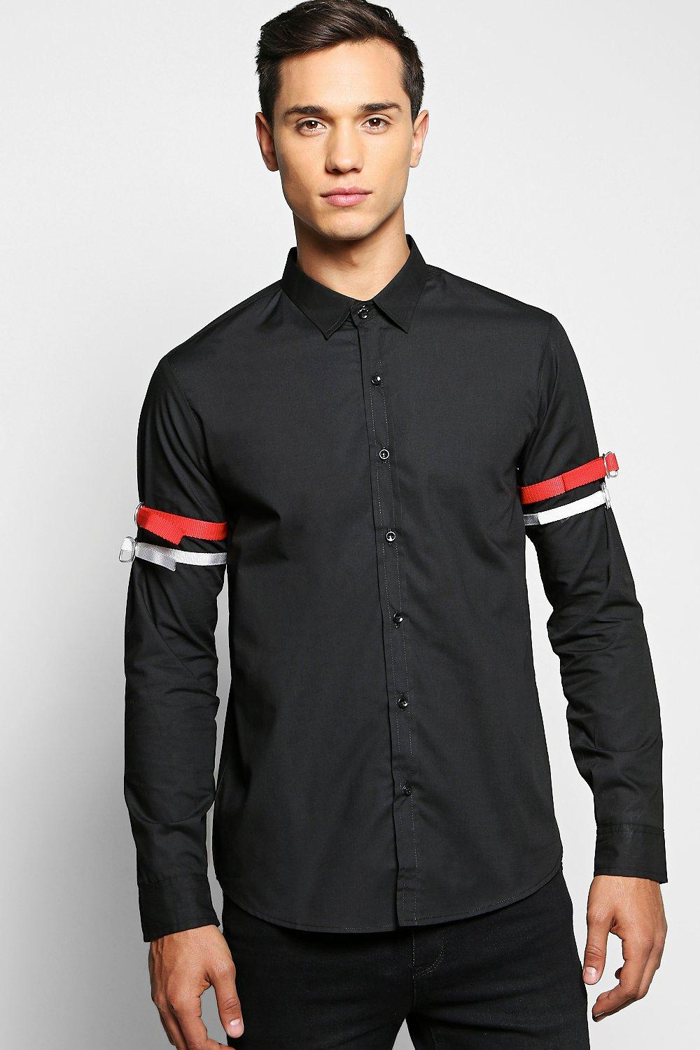Strap Detail Long Sleeve Shirt