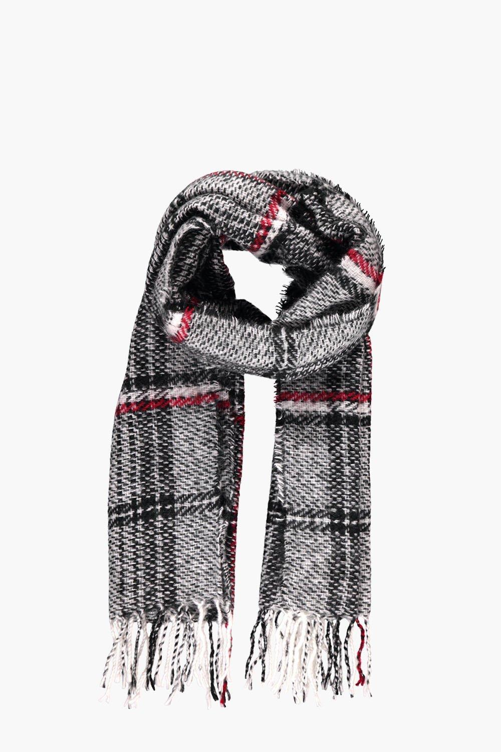 Oversized Woven Checked Scarf