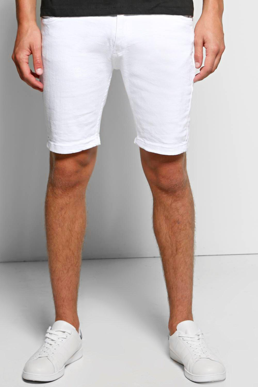 White Denim Skinny Short