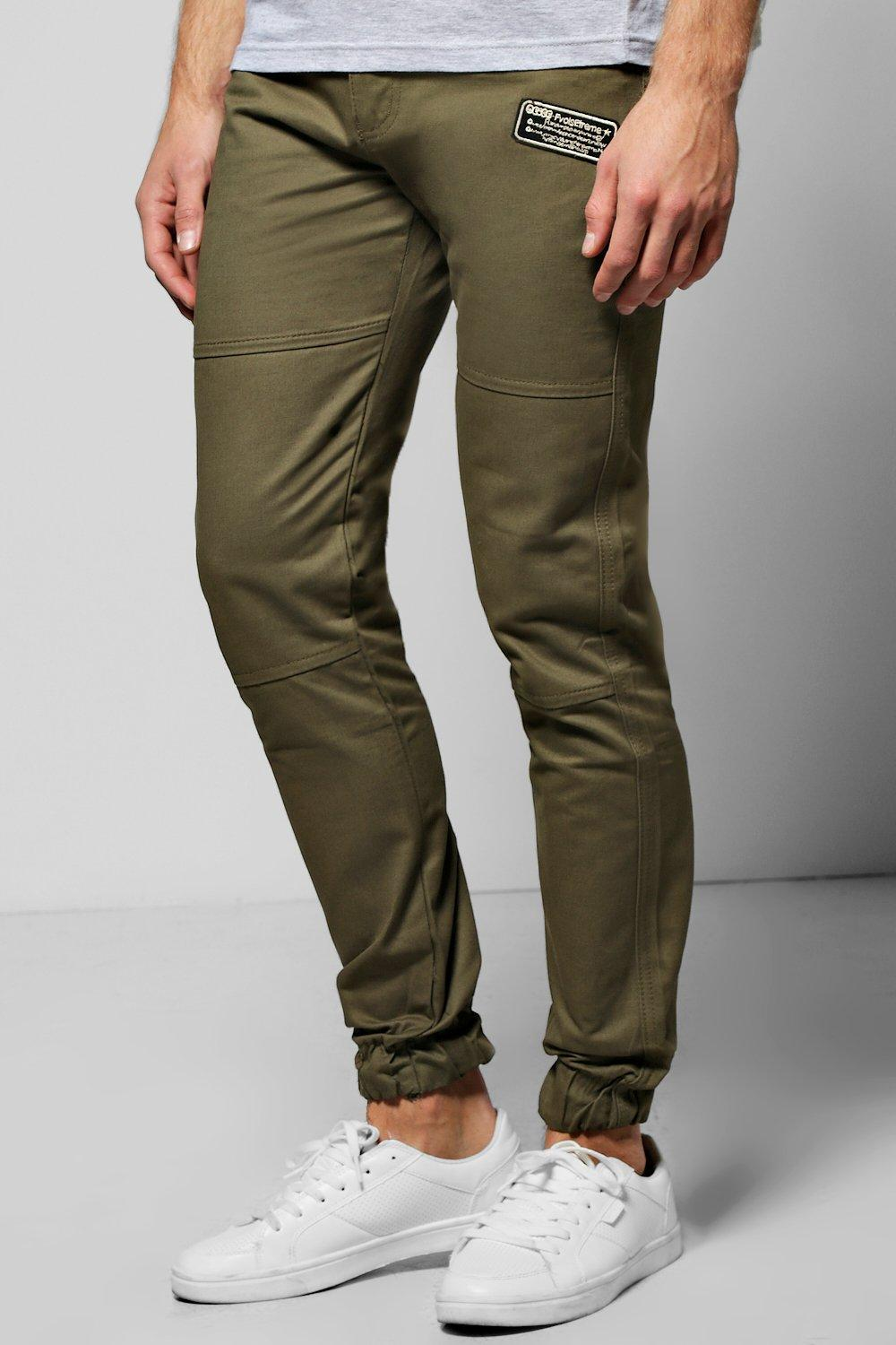 Badged Chino Trousers