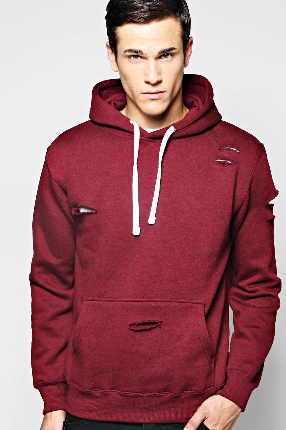 Distressed Over the Head Hoody