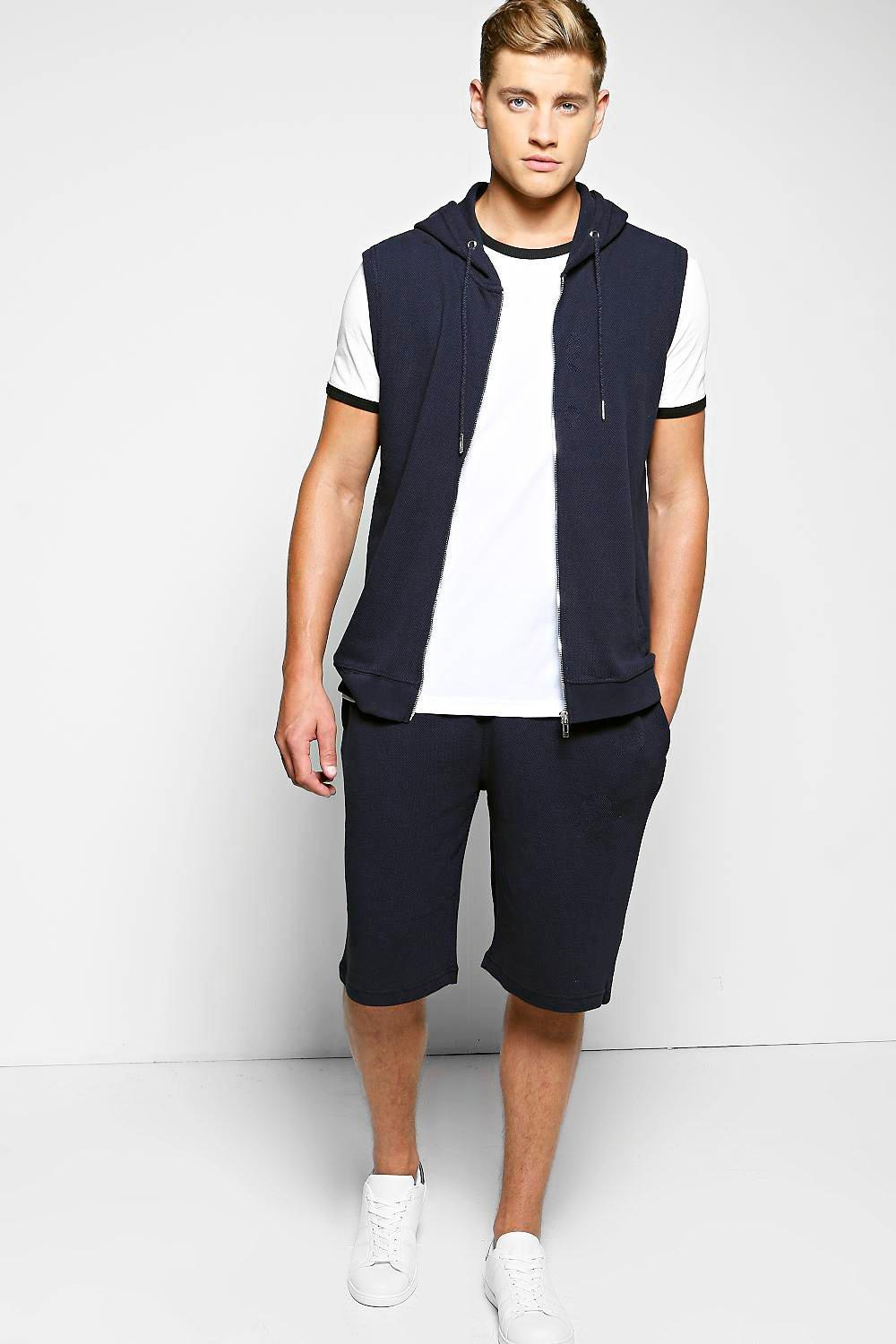 Sleeveless Pique Tracksuit